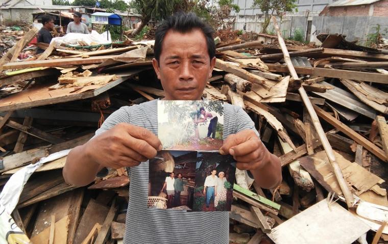 Nuryadi, warga kampung mekarsari Rt 04/06, panunggangan barat, cibodas, Kota Tangerang. (Foto: TitikNOL)