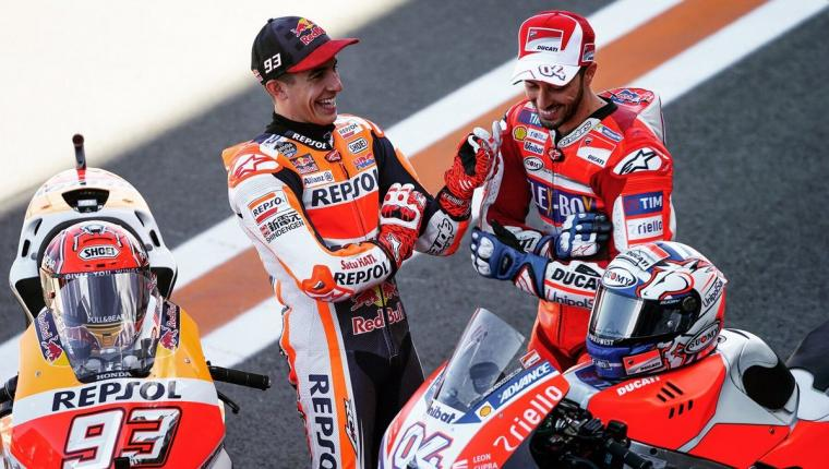 Marc Marquez dan Andrea Dovizioso. (Dok: twitter)
