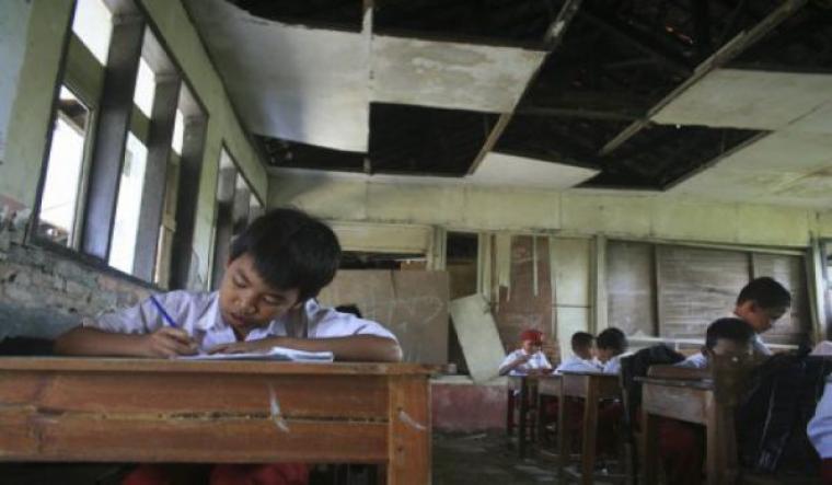 Foto ilustrasi sekolah rusak. (Dok: net)