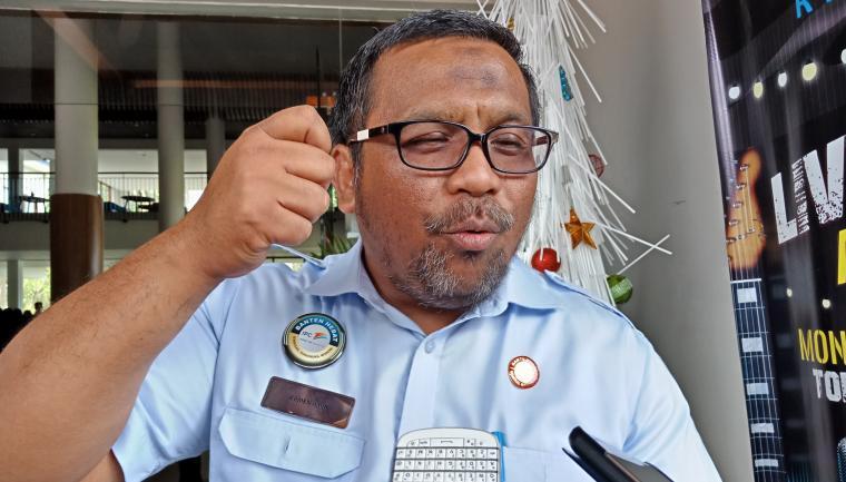 General Manager Pelindo II Cabang Banten Armen Amir saat memberikan keterangan kepada wartawan. (Foto: TitikNOL)
