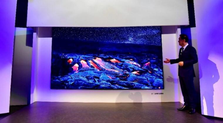 Televisi Samsung 4K berukuran 146 inci yang di pamerkan diajang Consumer Electronic Show (CES). (Dok: Mobilesyrup)