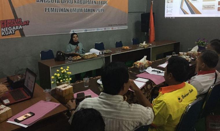 Suasana Raker Usulan Penetapan Dapil dan Alokasi Kursi Anggota DPRD Lebak di Pemilu 2019. (Foto: TitikNOL)