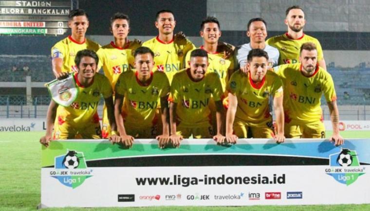 Pemain Bahayangkara FC. (Dok: Poskotanews)