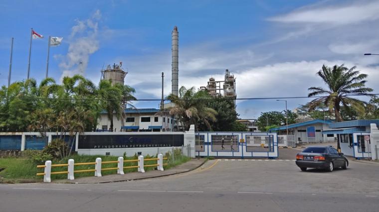PT Indorama Petrochemical berada di Lingkungan Rombongan, Kelurahan Kepuh, Kecamatan Ciwandan, Kota Cilegon. (Foto: TItikNOL)