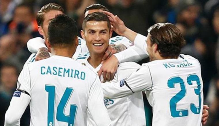 Selebrasi pemain Real Madrid udai cetak gol. (Dok: Sundul)