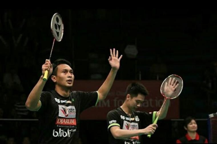 Mohammad Ahsan/Kevin Sanjaya Sukamuljo. (Dok: Youtube)