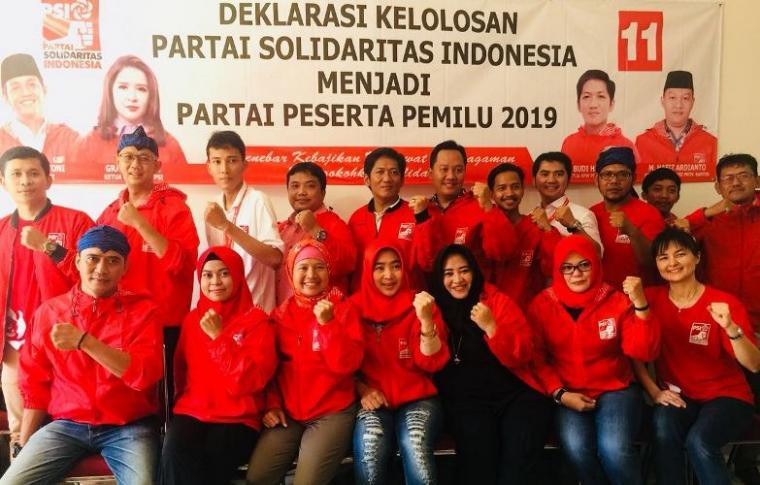 Partai Solidaritas Indonesia (PSI) sebagai partai baru mendapatkan nomor urut 11 sebagai peserta pemilu 2019. (Foto: TitikNOL)