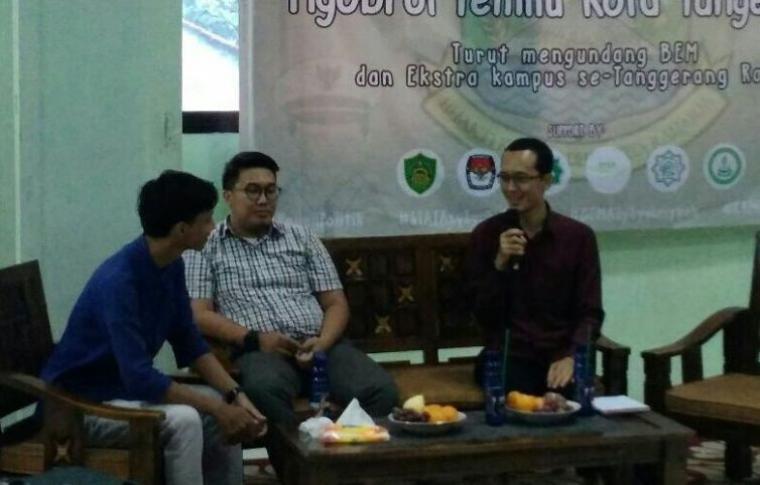 Suaasana Diskusi Pilkada Kota Tangerang. (Foto: TitikNOL)