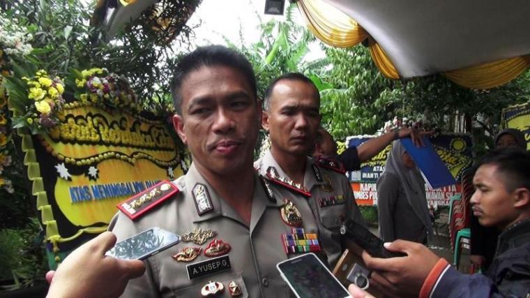 Kapolresta Bandara Soeta Kombes Pol Akmah Yosep Gunawan saat memberikan keterangan kepada wartawan. (Foto: TitikNOL)