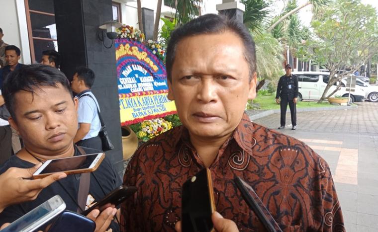 GM Pelindo II Cabang Banten saat memberikan keterangan kepada wartawan beberapa waktu lalu. (Foto: TitikNOL)