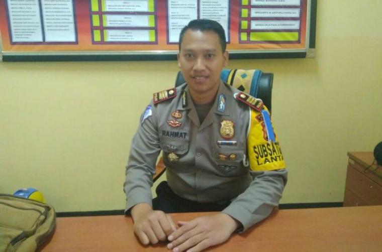 Kasatlantas Polres Lebak AKP Rahmat Sampurno saat ditemui TitikNOL di ruang kerjanya. (Foto: TitikNOL)