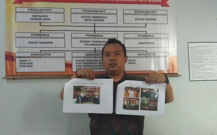 Tim advokasi pasangan calon nomor urut satu Vera Nurlaela - Nurhasan, saat melaporkan 13 dugaan pelanggaran.(Foto: TitikNOL)