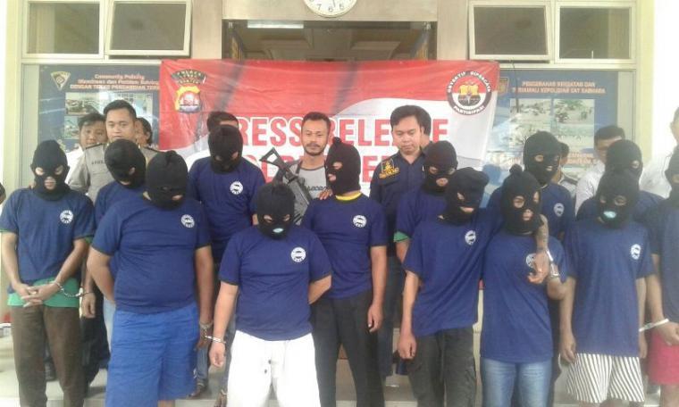 Polres Lebak gelar ekspose pelaku tindak kejahatan di wilayah hukum Polres Lebak. (Foto: TitikNOL)