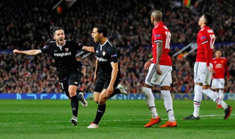 Selebrasi Pemain Sevilla usai cetak gol. (Dok: Dailyexpres)