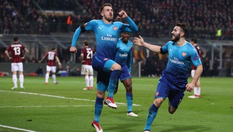 Selebrasi pemain Arsenal usai cetak gol. (Dok: 90Min)