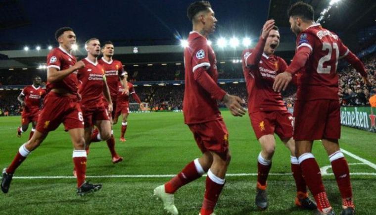 Selebrasi sejumlah pemain Liverpool. (Dok: Kompas)