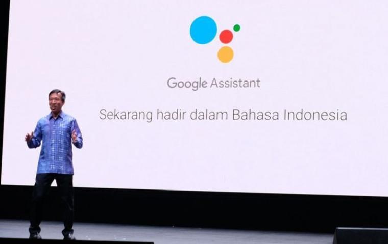Ken Tokusei, Product Management Director Google Search saat mengumumkan dukungan bahasa Indonesia di layanan Google Assistant. (Dok: Kompas)
