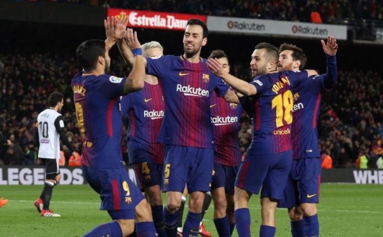 Sejumlah pemain Barcelona. (Dok: Prediksibola)