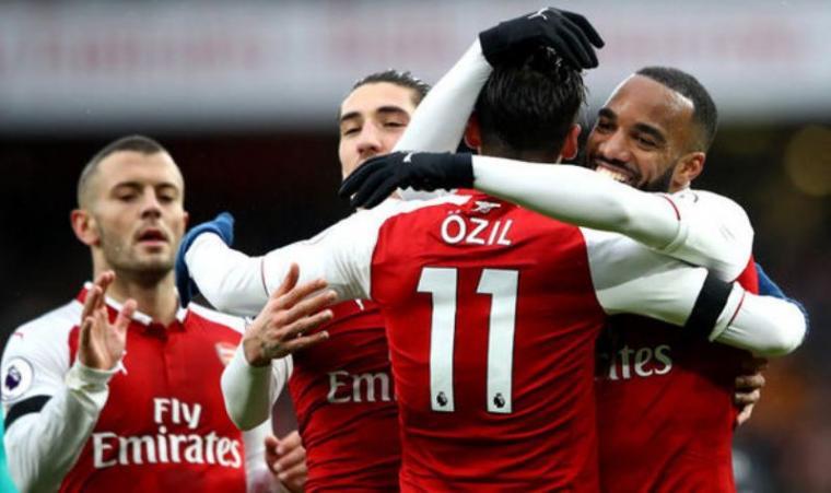 Selebrasi sejumlah pemain Arsenal. (Dok: Net)