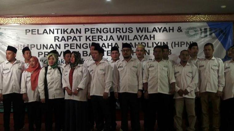 Sejumlah pengurus HPN Banten saat dilantik. (Foto: TitikNOL)