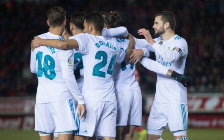 Selebrasi sejumlah pemain Real Madrid. (Dok: Caughtoffside)