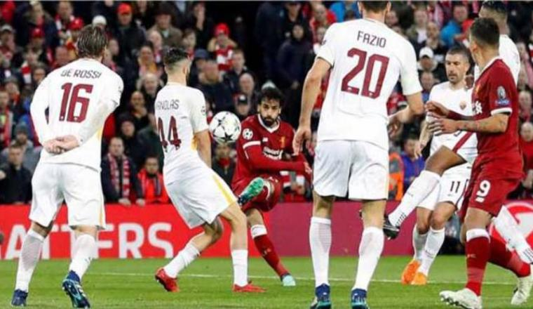 AS Roma vs Liverpool. (Foto: Radarbogor)