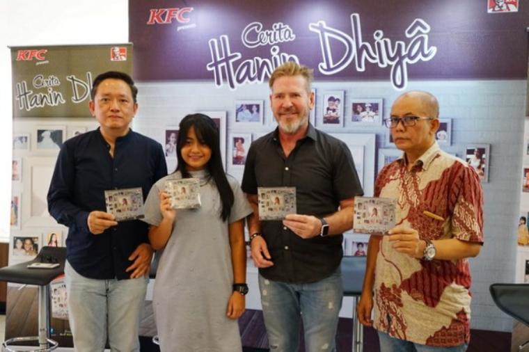 Jumpa Pers album perdana Hanin Dhiya di KFC Kemang, Jakarta Selatan. (Foto: Okezone)
