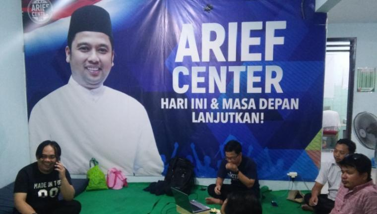 Suasana Pos Pemenangan Arief Center. (Foto: TitikNOL)