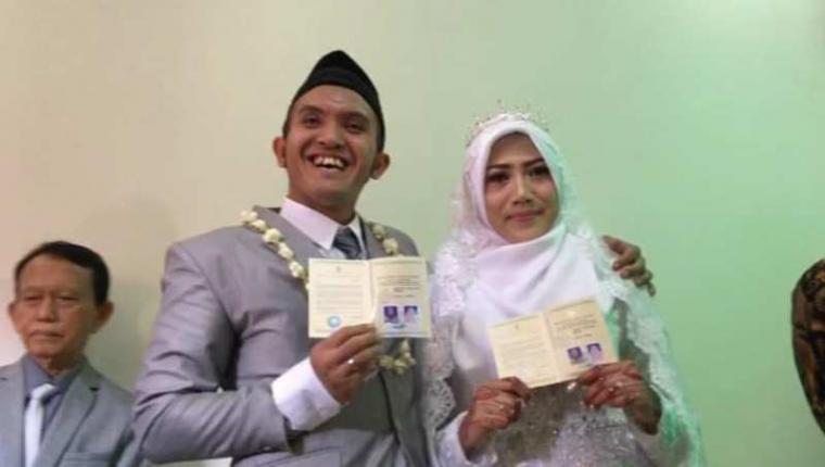 Pernikahan Caisar Aditya dengan Almaratu Intan. (Dok: Kumparan)