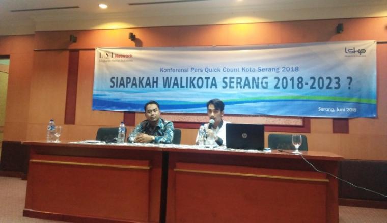 Konferensi Pers Quick Count Kota Serang. (Foto: TitikNOL)