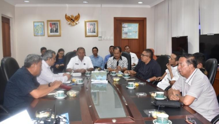 Komisi IV DPRD Provinsi Banten saat melakukan kunjungan kerja ke Kementerian ESDM di Jakarta, Rabu (3/1/2018).