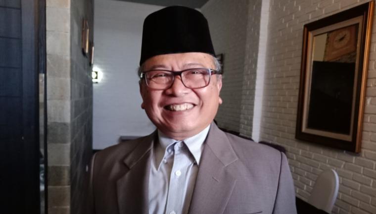 Ketua MUI Banten AM Romly saat memberikan keterangan kepada wartawan. (Foto: TitikNOL)