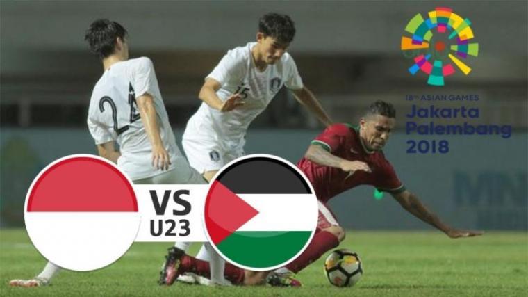 Indonesia vs Palestina. (Dok: Plesbol)