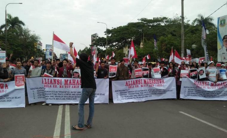 Suasana Aksi Bela KH Maruf Amin. (Foto: TitikNOL)