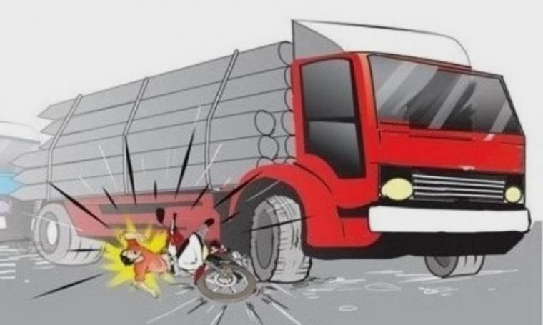 Ilustrasi terlindas truk. (Dok: wartanusa)