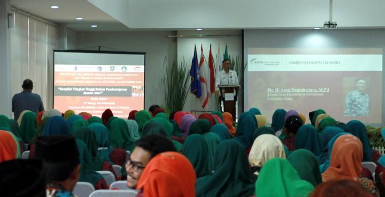 """Suasana Seminar Pendidikan """"Berpikir Tingkat Tinggi Dalam Pembelajaran Jaman Now"""" di Kantor Operasional Ciujung KM 59 Tol Tangerang-Merak, Rabu (26/9/2018). (Foto: Ist)"""