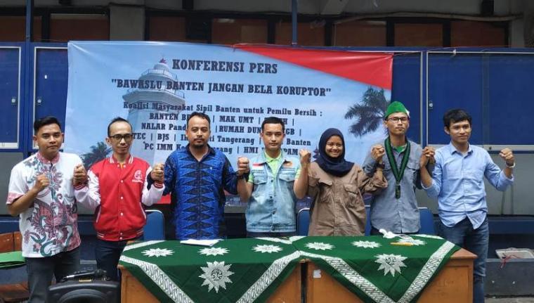 Konferensi Pers Bawaslu Banten. (Foto: TitikNOL)