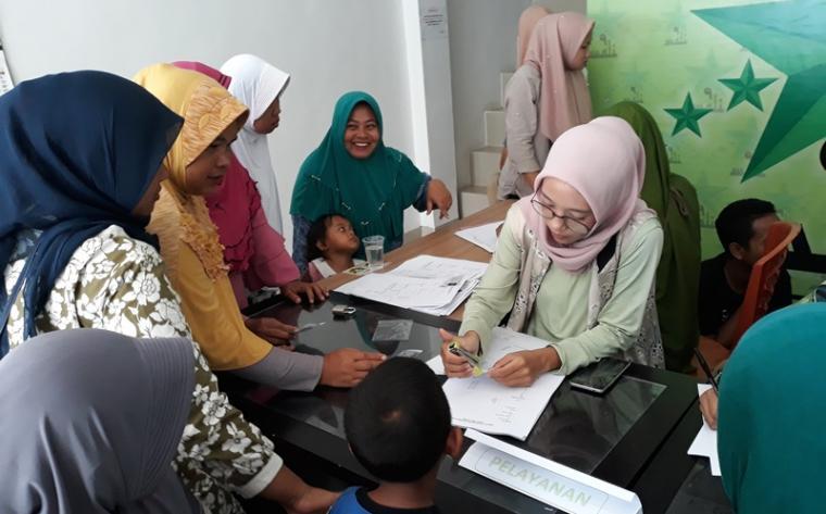 Pendaftaran Relawan Jokowi-KH. Ma'ruf Amin. (Foto: TitikNOL)
