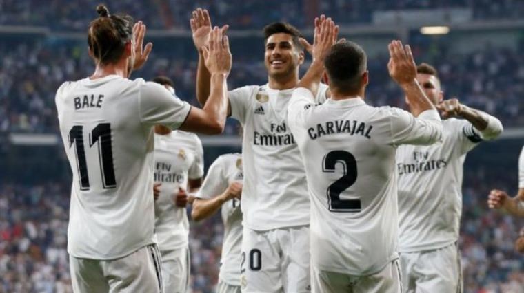 Selebrasi sejumlah pemain Real Madrid. (Dok: Tribunnews)