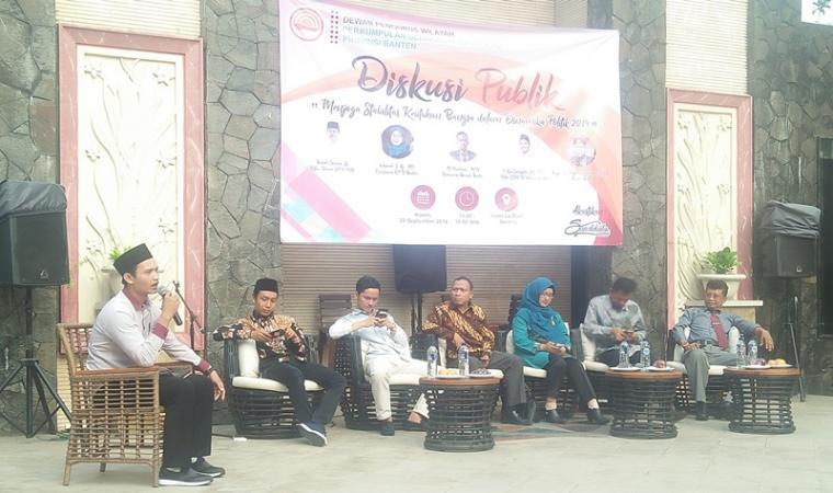 Suasana diskusi publik DPW PGK Provinsi Banten di Hotel Le Dian Kota Serang. (Foto: TitikNOL)