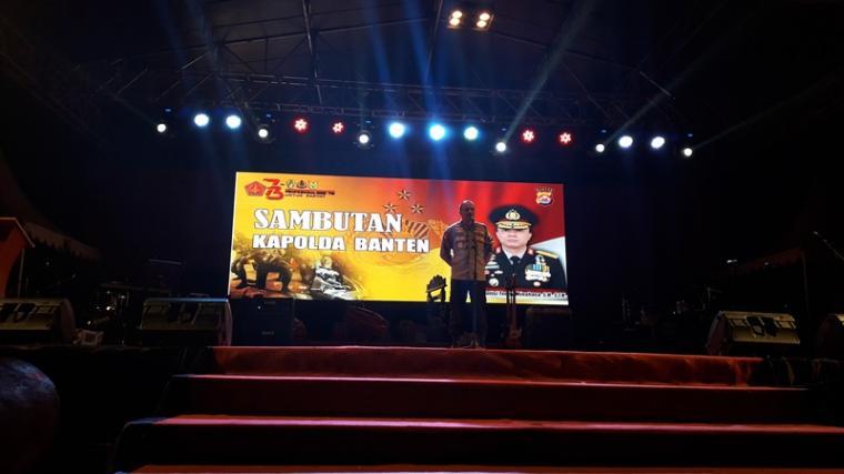 Kapolda Banten Brigjen Pol Teddy Minahasa Putra saat memberikan sambutan. (Foto: TitikNOL)