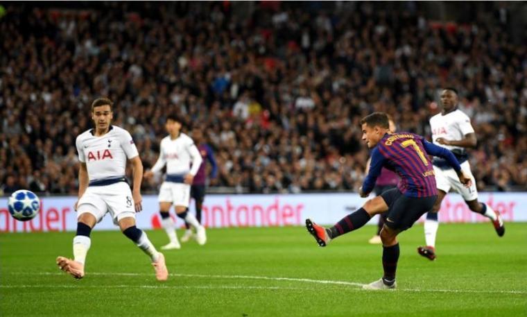 Tottenham Hotspur vs Barcelona. (Dok: Gilabola)