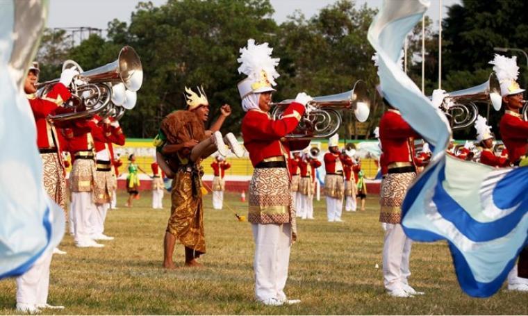 Gita Surosowan Drum & Bugle Corps Banten. (Dok: radarbanten)