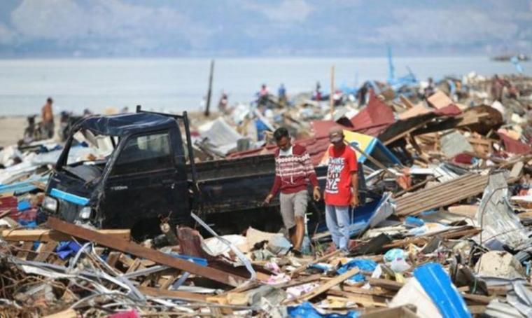 Bencana gempa bumi dan tsunami yang menimpa Sulawesi Tengah. (Dok: Merdeka)