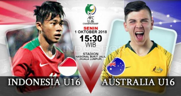 Timnas Indonesia U-16 vs Australia. (Dok: Indosport)