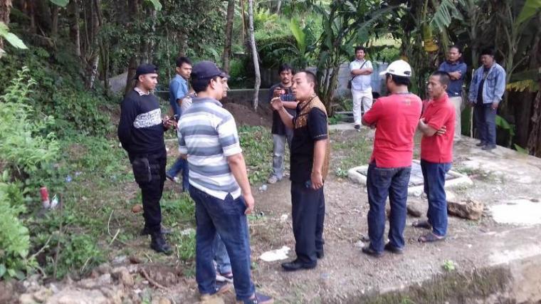 Lahan yang diduga diserobot Kepala Satpol PP Banten M Basri. (Foto: TitikNOL)