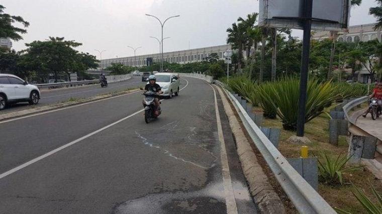 Lokasi terjadinya kecelakaan yang menewaskan tiga santribdi Cipondoh, Tangerang. (Dok: Tribun)