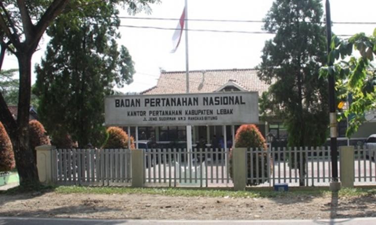 Kantor Badan Pertanahan Nasional (BPN) Kabupaten Lebak. (Dok: Kementerian Agraria dan Tata Ruang)