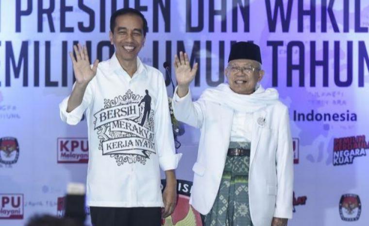 Jokowi - Ma'ruf Amin. (Dok: Bbc)