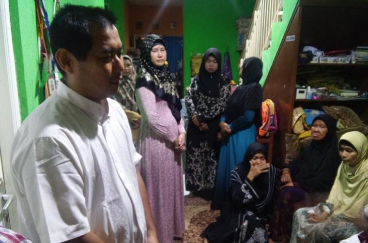Adik almarhum Abdullah Fithri Setiawan/Dufi, Muhammad Ali Rondhoni. (Foto: TitikNOL)